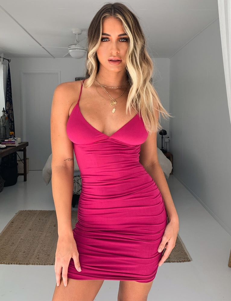 Amber Dress - Fuschia