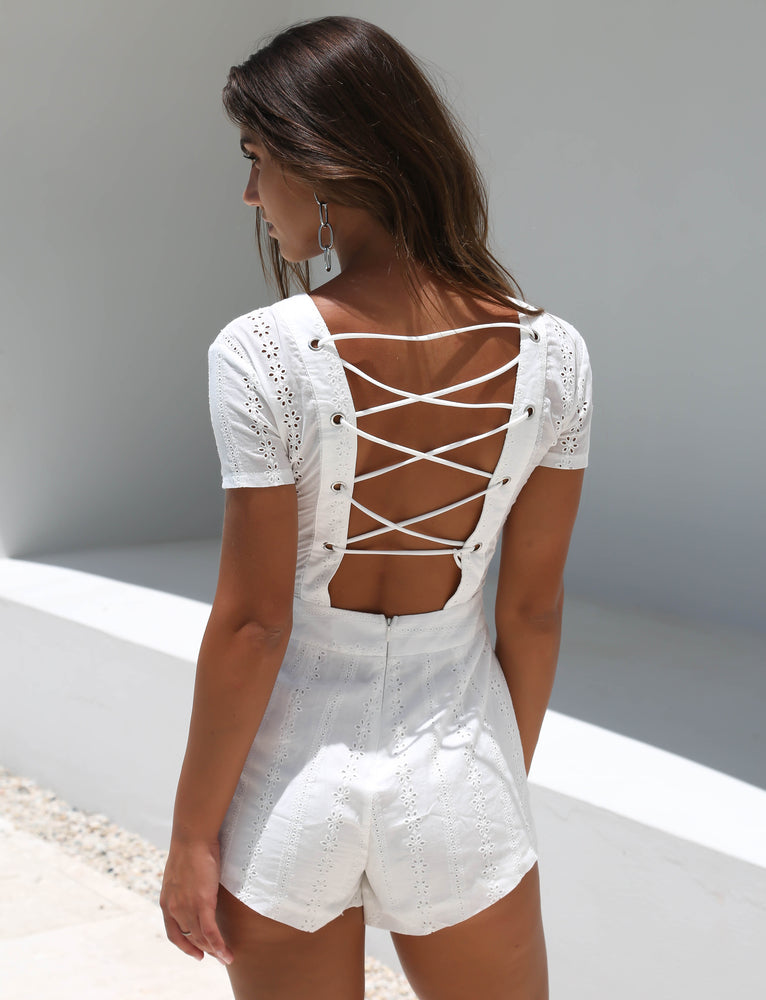 Sophie Playsuit - White