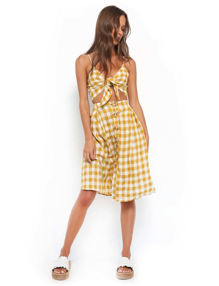 Maddox Two Piece - Yellow Check