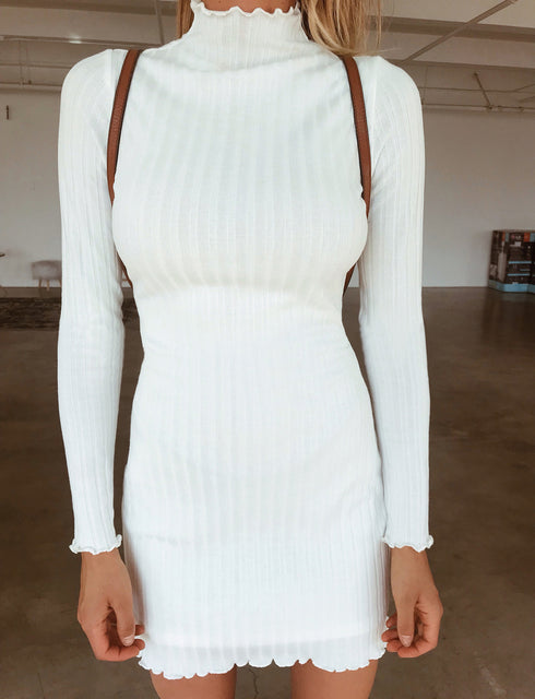 Alba Long Sleeve Dress - White