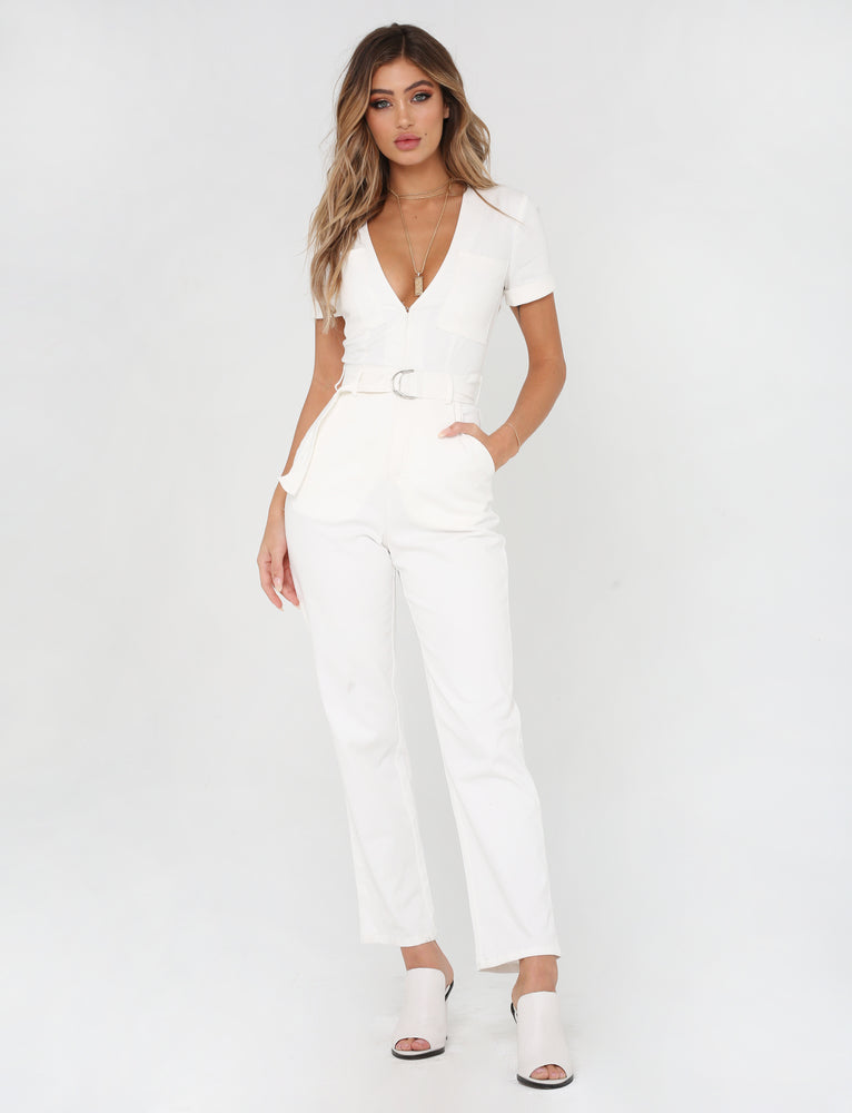 c1145e0b4034 Buy Our Phillipa Jumpsuit in White Online Today! - Tiger Mist