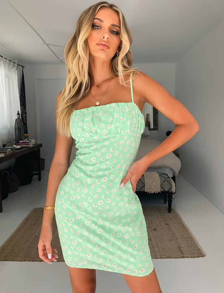 Allysum Dress - Pastel Green