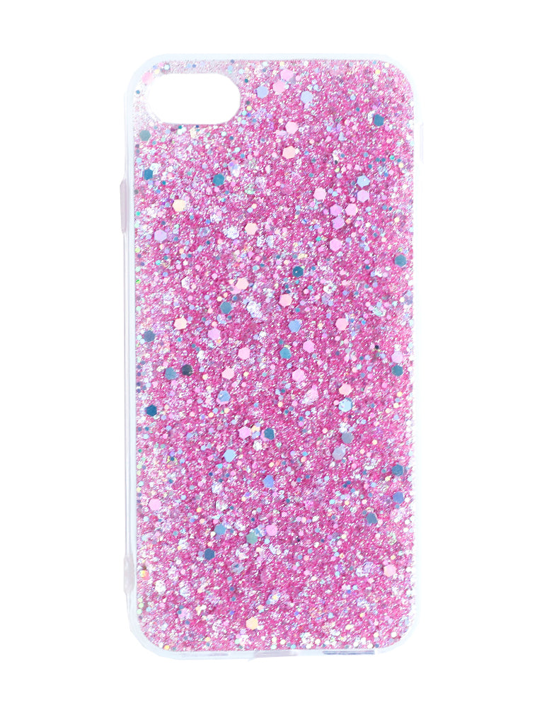 Iphone 8 Pink Glitter Phone Case - Pink