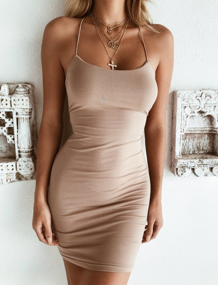 Bentley Dress - Tan