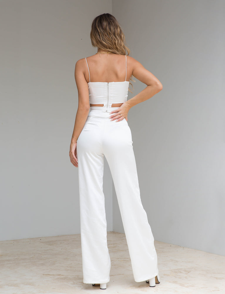 Arianna Pant - Cream Satin