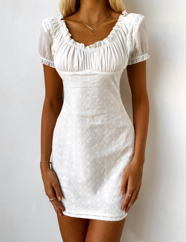 Saville Dress - White