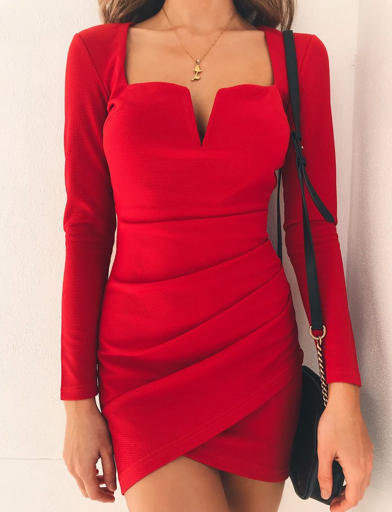 Avery Dress - Red