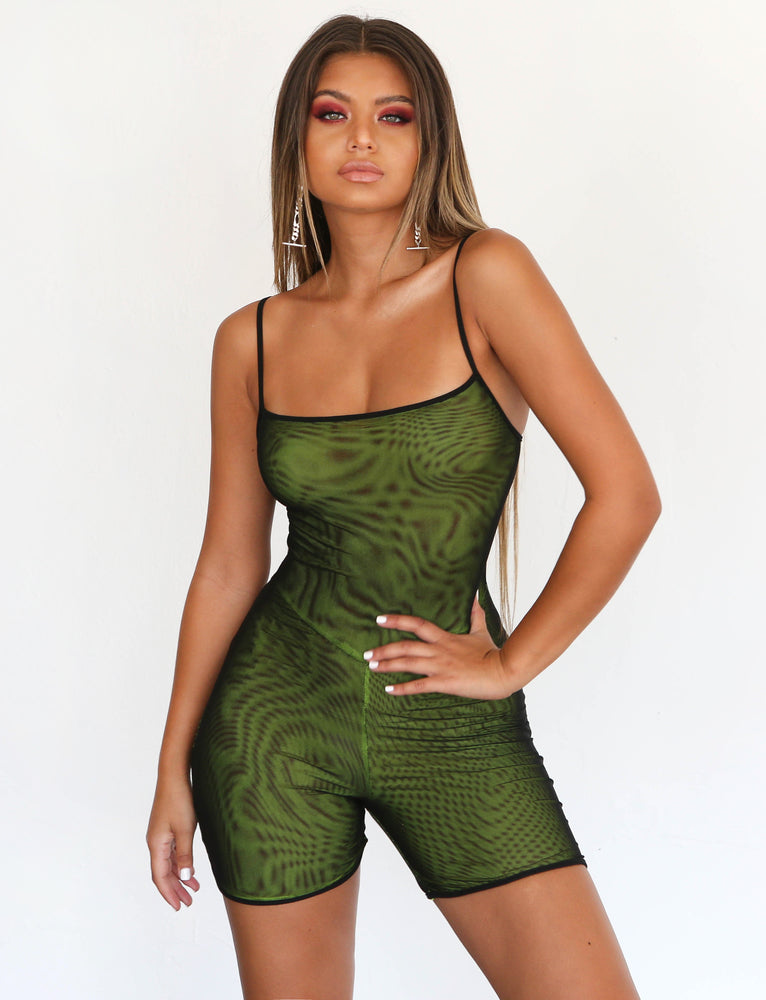 266be9a8179 Buy Our Ulric Playsuit in Black Yellow Mesh Online Today! - Tiger Mist