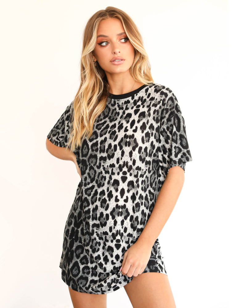 Jaguar T Shirt Dress - Leopard