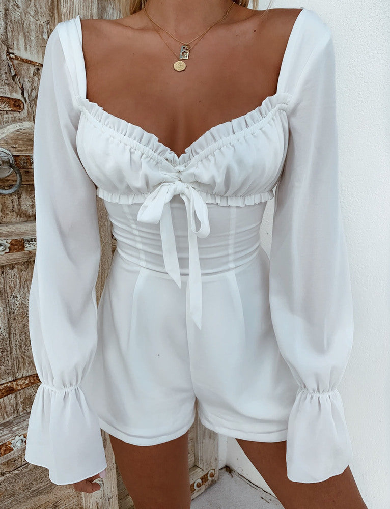 Orchard Playsuit - White