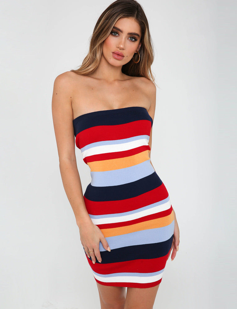 Haven Dress - Red Stripe