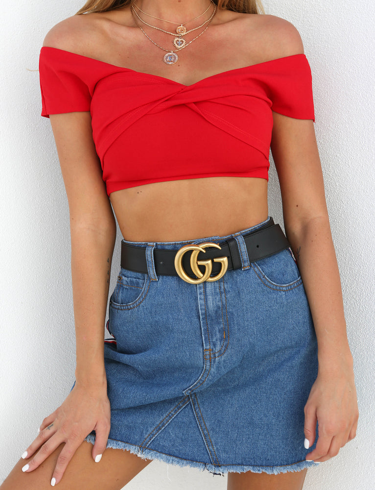 Katie Crop - Red