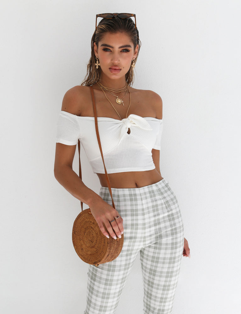 All Night Crop - White