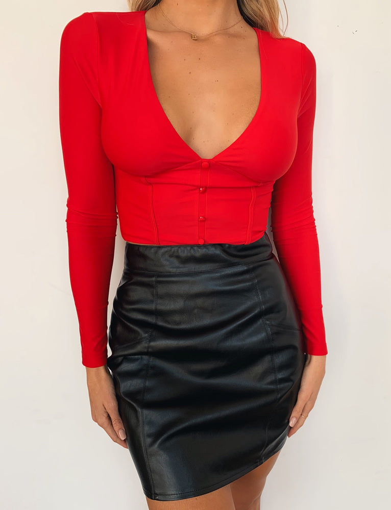 Temple Top - Red
