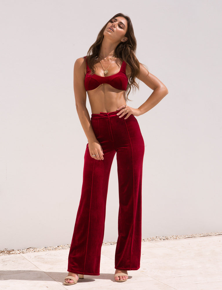 Arianna Pant - Cherry Red