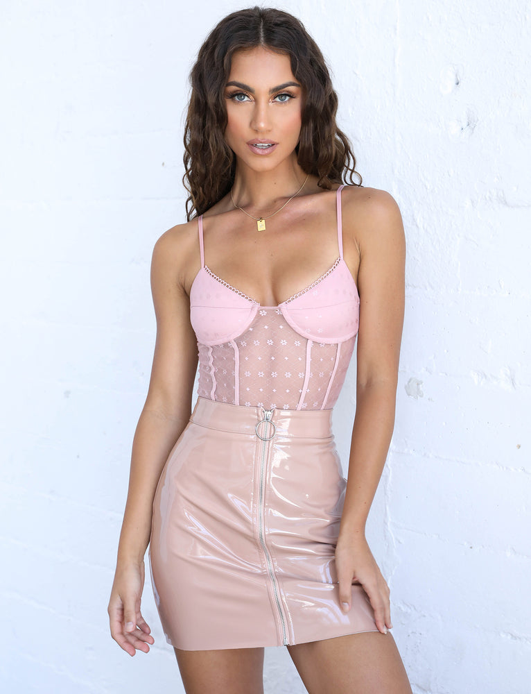Violet Bodysuit - Blush