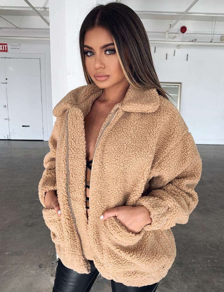 Pixie Jacket - Caramel Fleece
