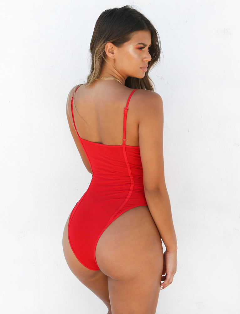 Chevie Bodysuit - Red