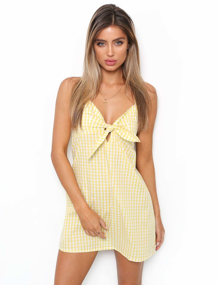 Simple Life Dress - Yellow Check