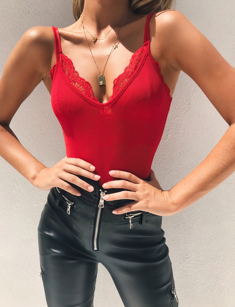 Bailey Bodysuit - Red