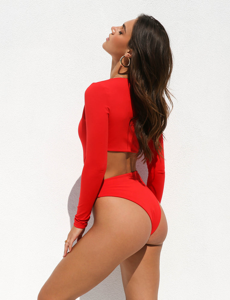 Isabella Bodysuit - Red