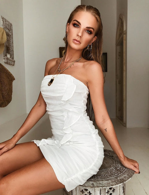 Allured Mini Dress - White