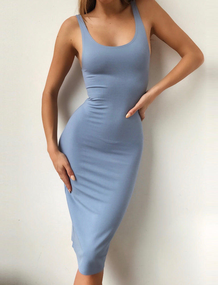 Kyky Midi Dress - Steel Blue