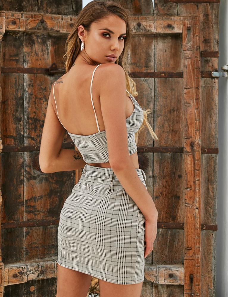 Raven Skirt - Grey Check