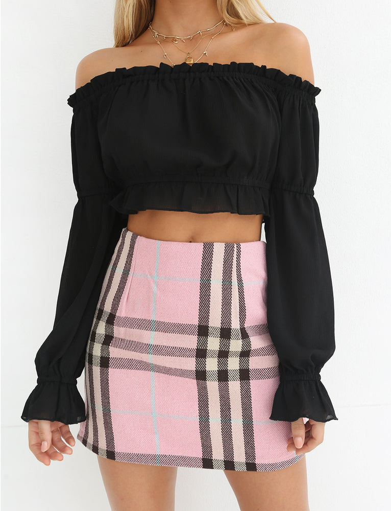 Ziggy Skirt - Pink plaid