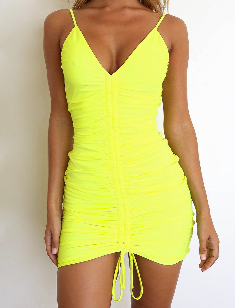 Sasha Dress - Neon Yellow