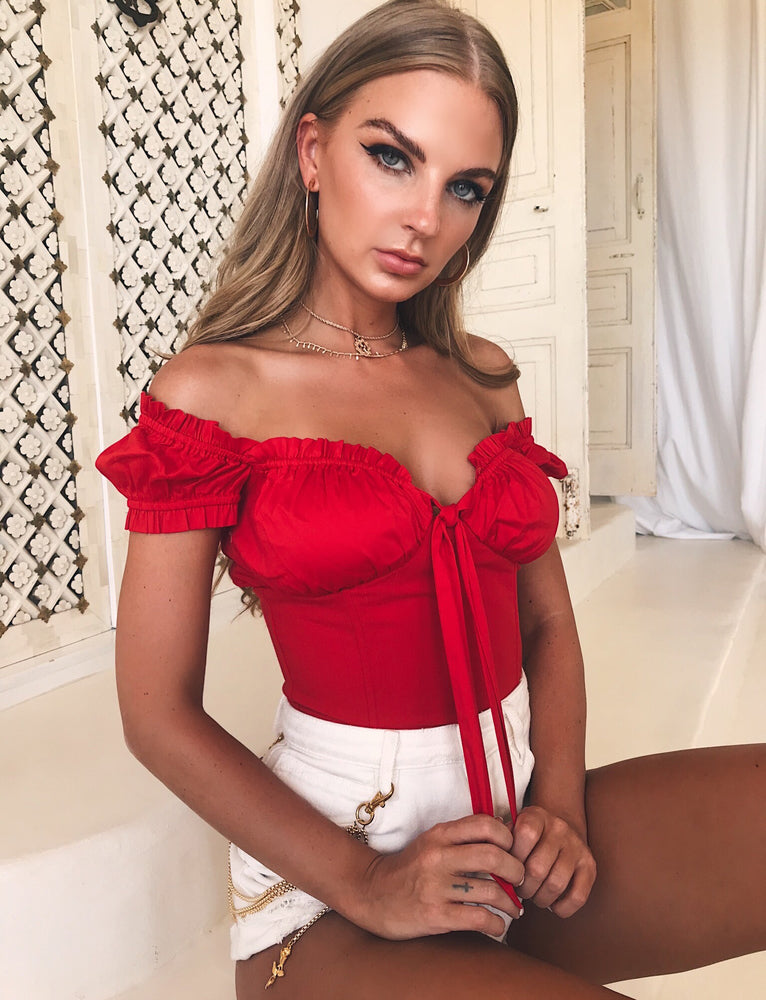 a4b1e42195649 Buy Our Naomi Top in Red Online Today! - Tiger Mist