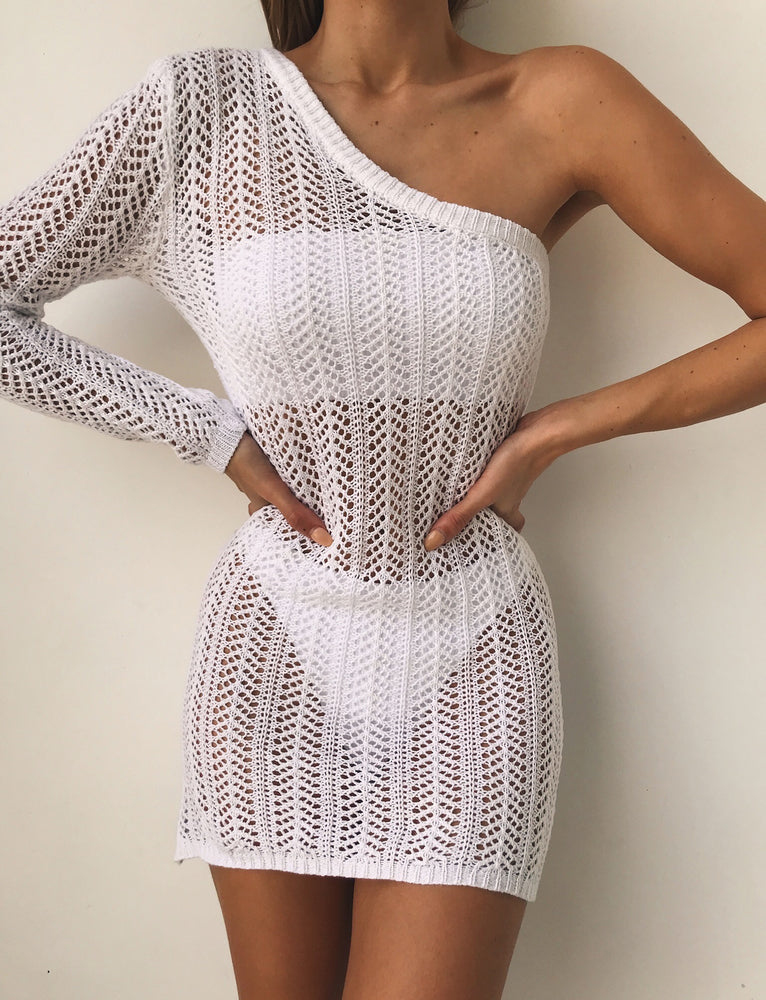 Davi Crochet Dress - White