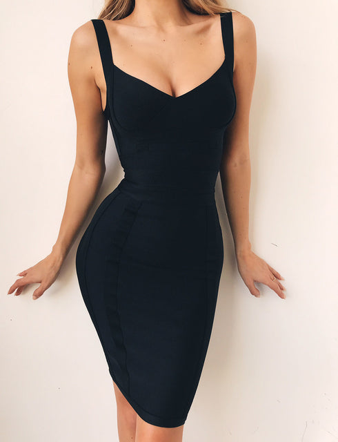 Tatum Bandage Dress - Black