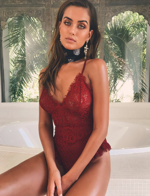 Hooked On You Bodysuit - Red