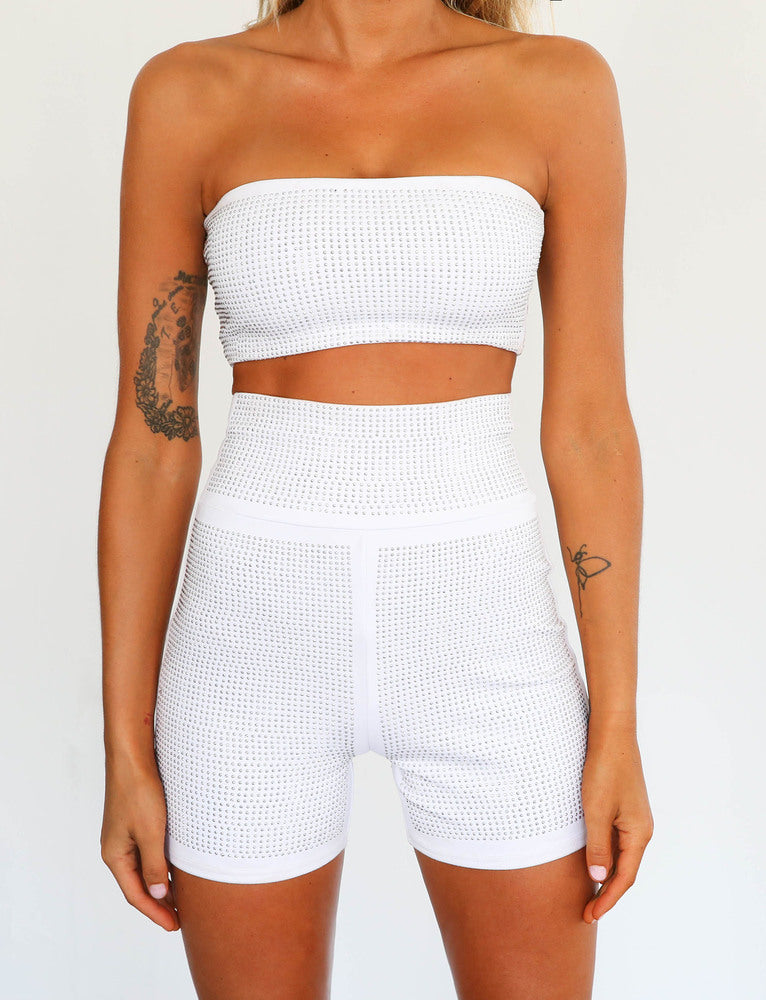 Aurora Short - White Diamante