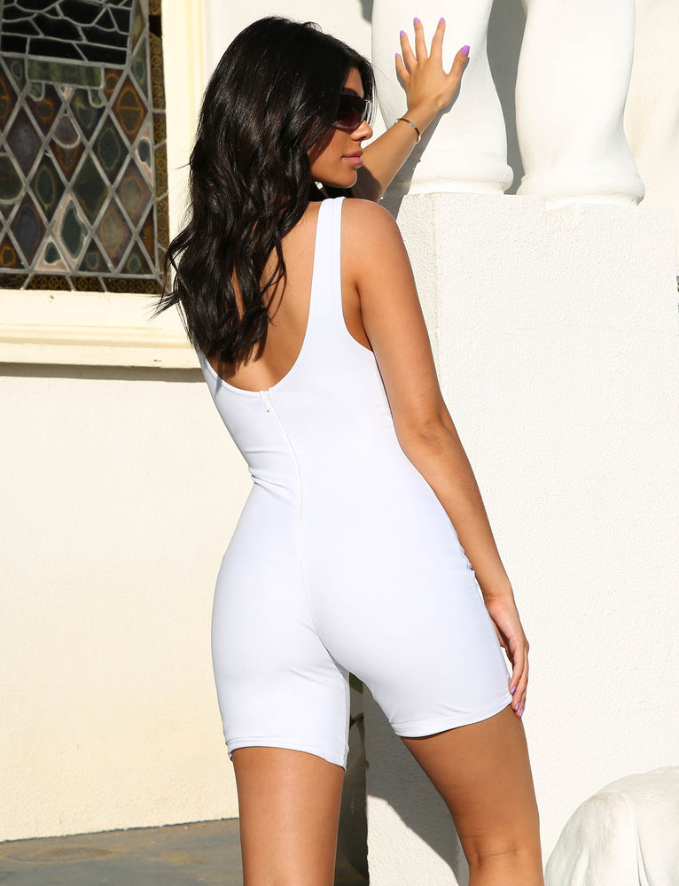 Elle Playsuit - White