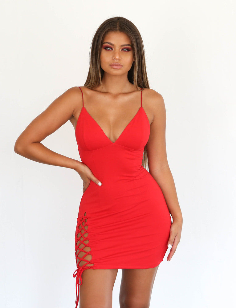 Tashanna Dress - Red