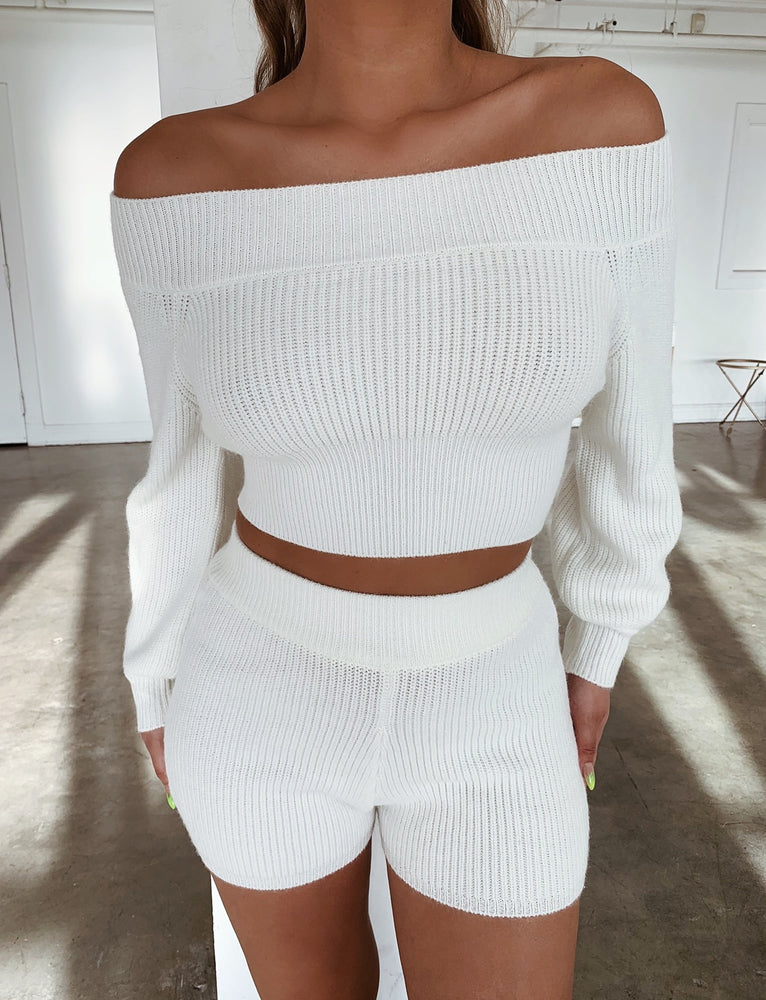 Nolana Knit Jumper - White