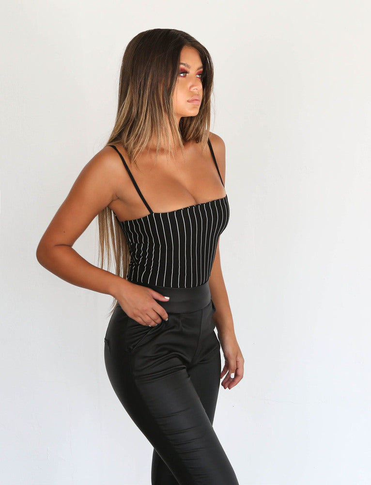 Anouk Bodysuit - Black/White