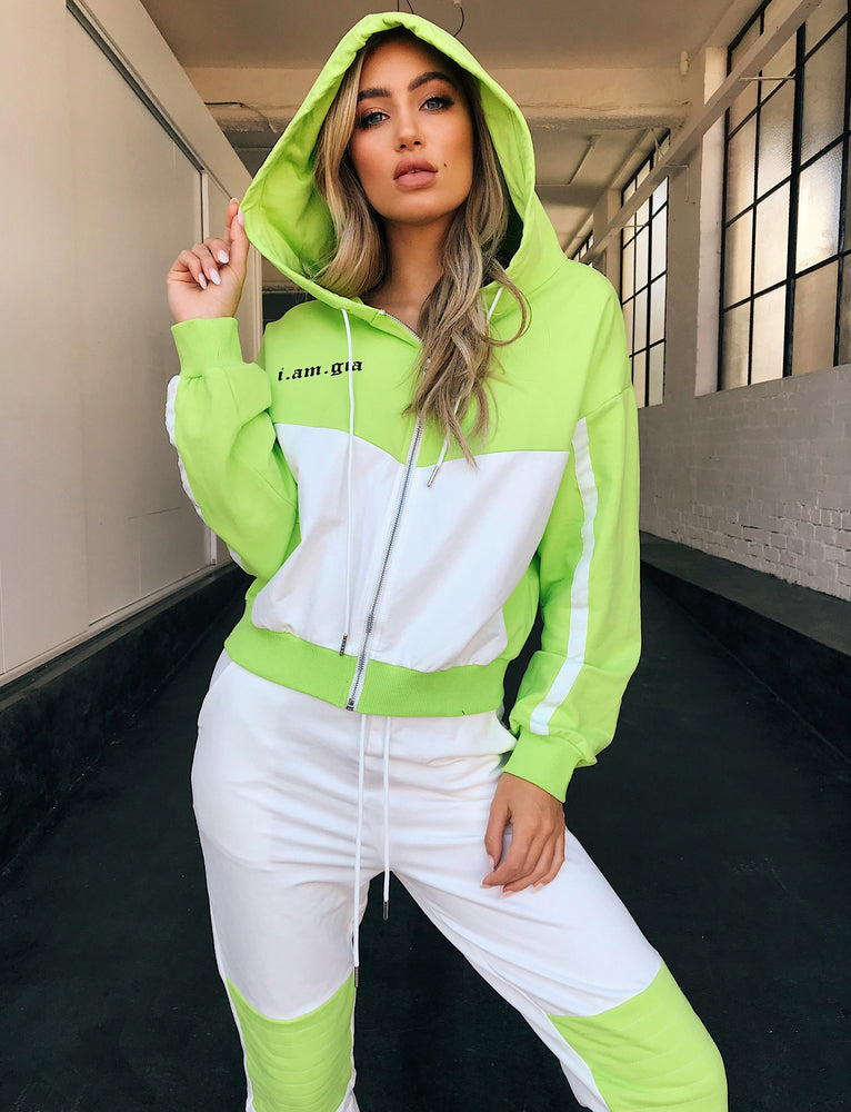 Chyna Sweater - White/Green