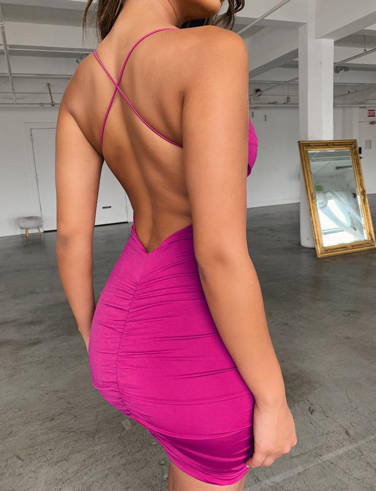 Reese Dress - Fuchsia