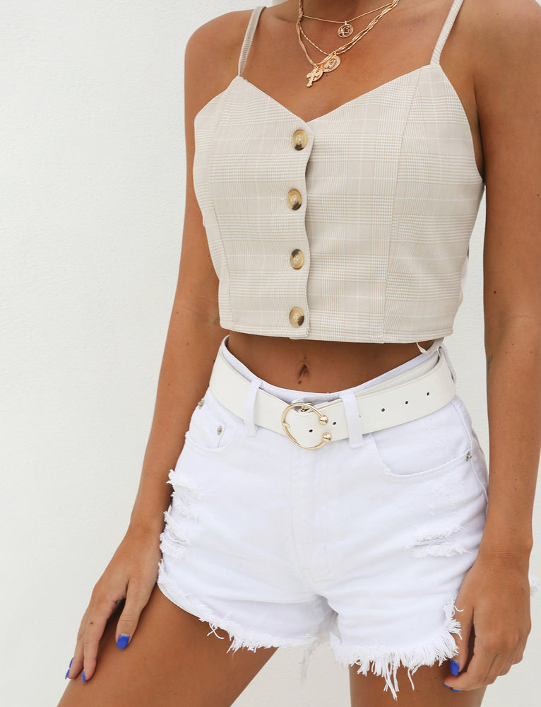 The Zoe Top - Beige
