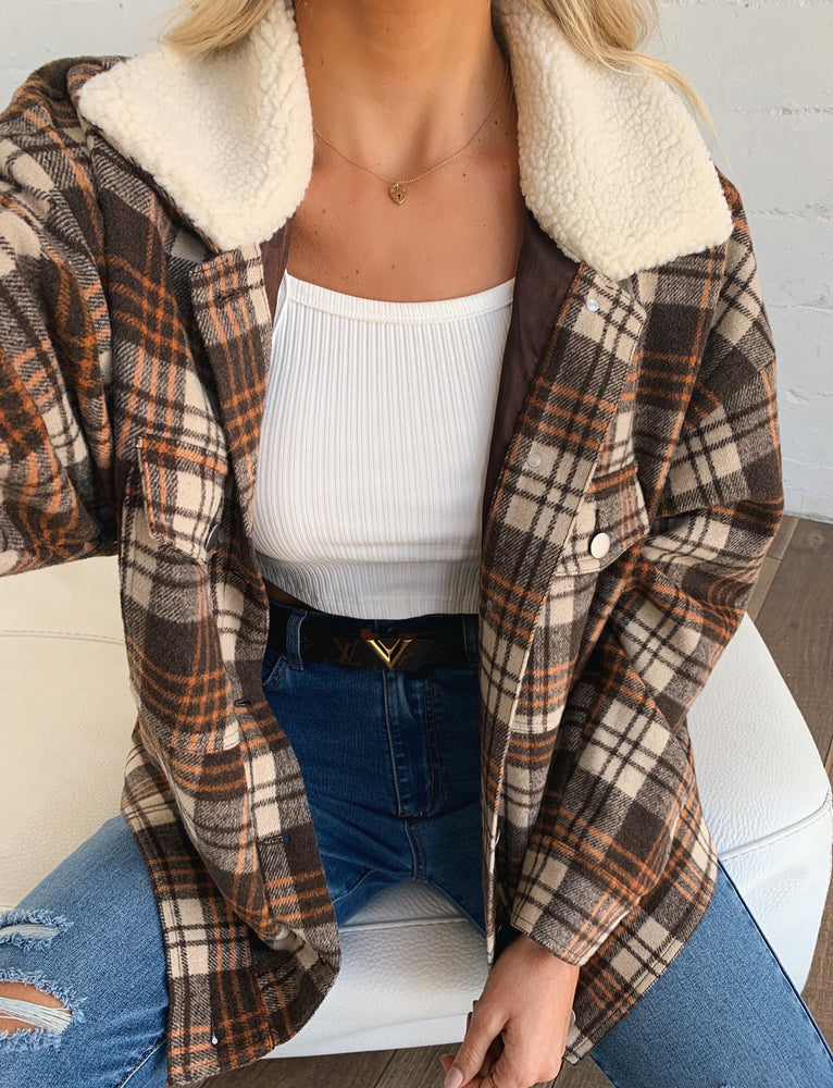 Fernadez Jacket - Tan Check