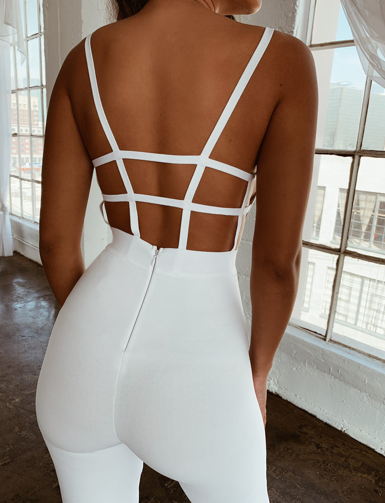 Isabella Jumpsuit - White