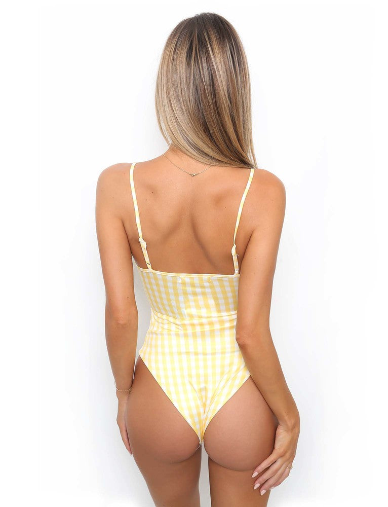 Pretty Thing One Piece - Yellow Check