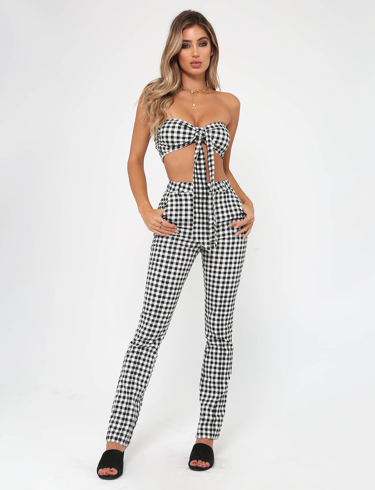 Carrie Pant - Black/White Check
