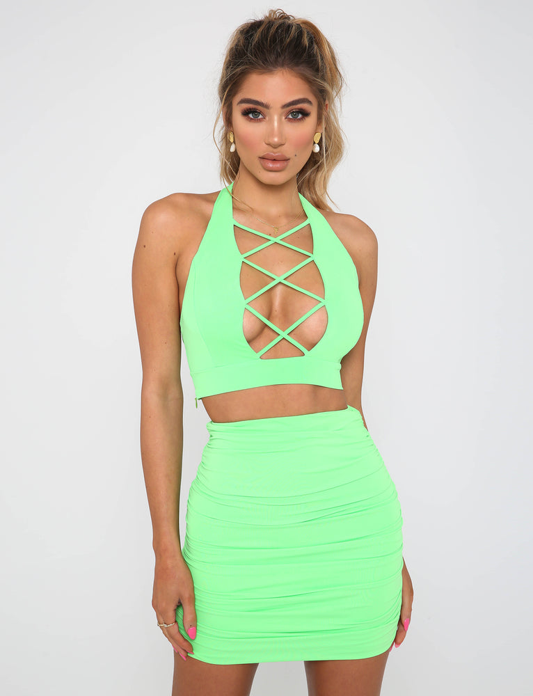 Cece Skirt - Pop Green
