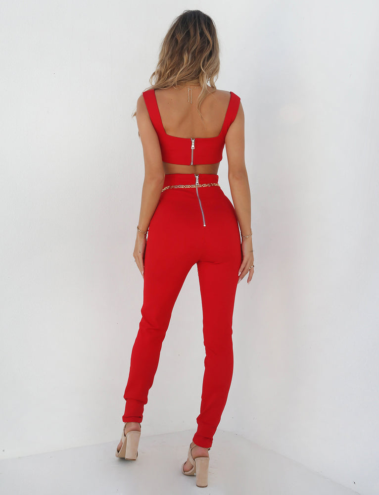 Stella Catsuit - Red