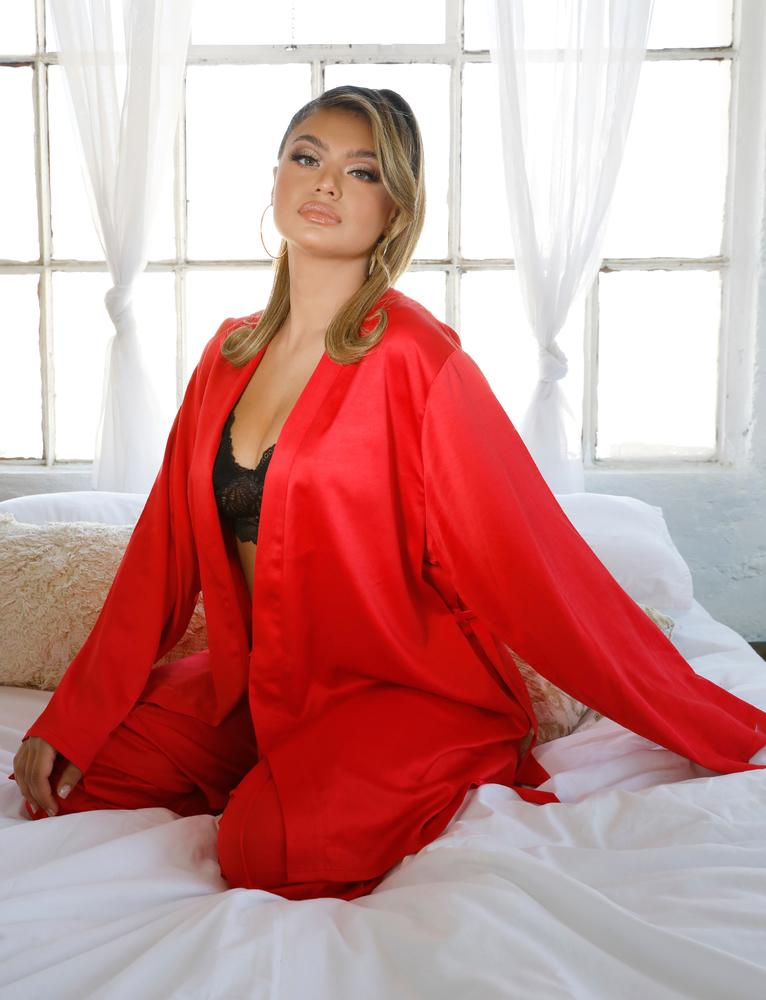 Hearts Sleep Gown - Red