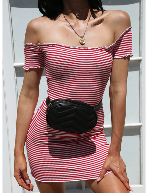 Mia Dress - Red/White Stripe